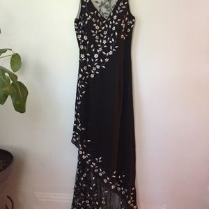 Floral Prom/Formal Evening Gown Black